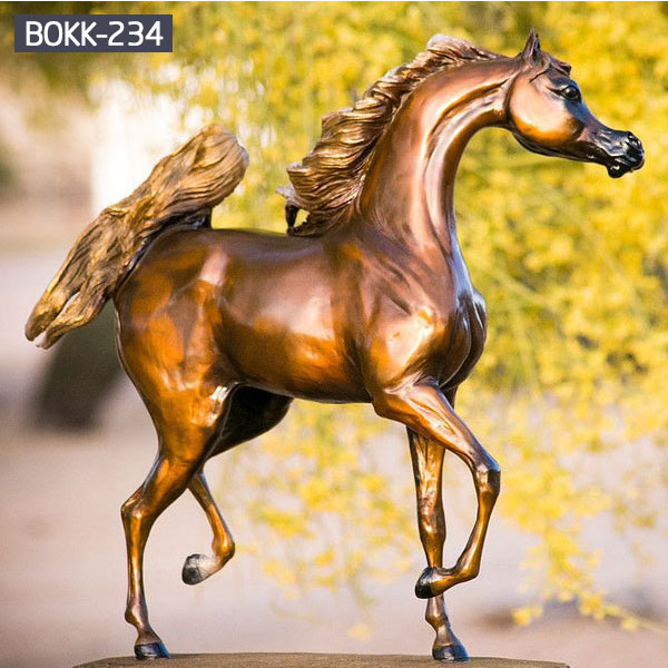 Outdoor ornaments arabian horse sculptures for sale