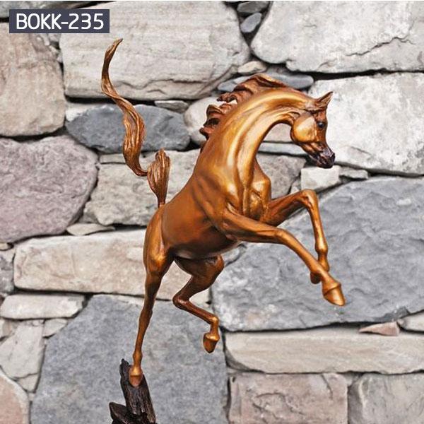 Outdoor arabian horse racing bronze statues for sale
