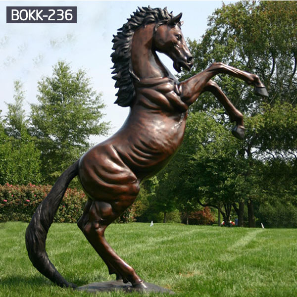 Outdoor large metal rearing horse lawn bronze statues price