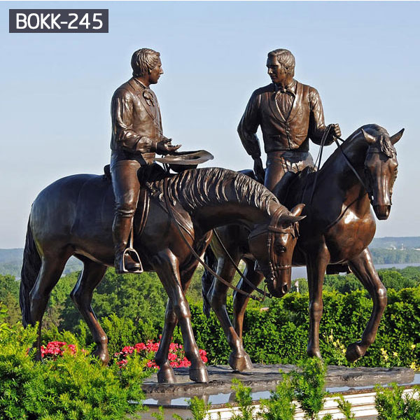 Famous standing life size statues and rider for sale