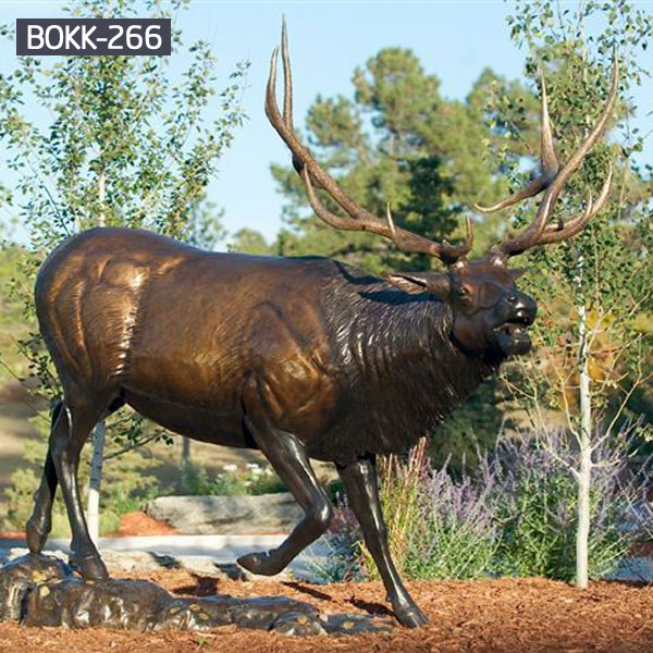 large garden reindeer brass statues outdoor decor to buy