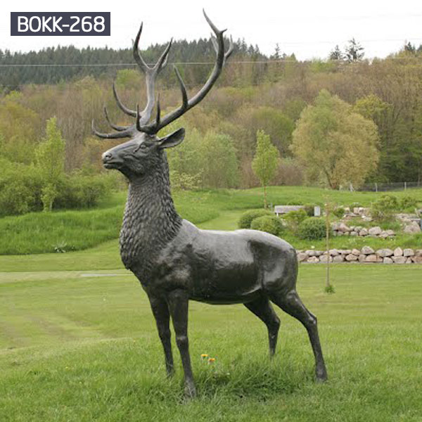 Outdoor life size garden bronze stag for lawn ornaments costs