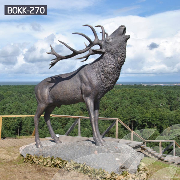 Buy bronze casting elk statues outdoor for sale