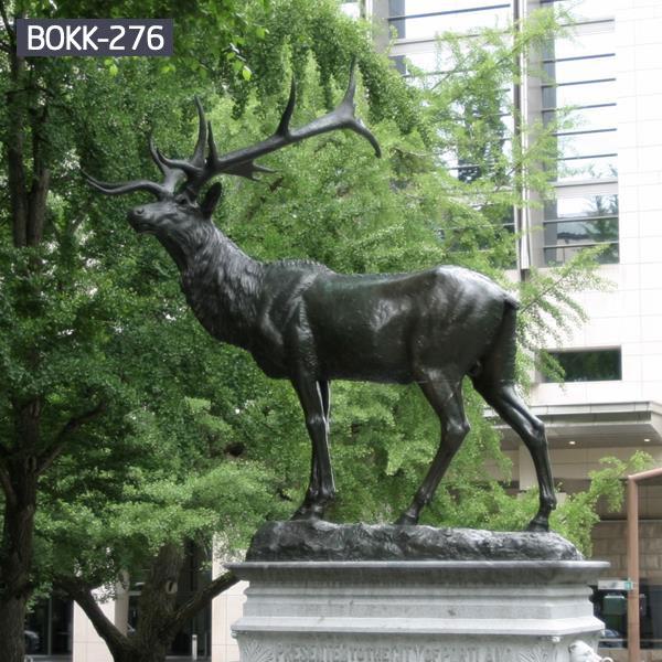 Outdoor decorative standing deer sculptures for sale