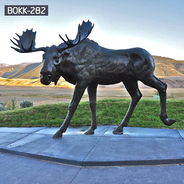 Large bronze moose wildlife animal statues for sale