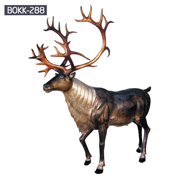 Brass life size reindeer wildlife statues to buy