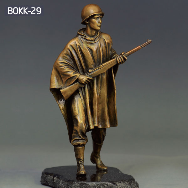 Military bronze casting statues of army solider life size for sale