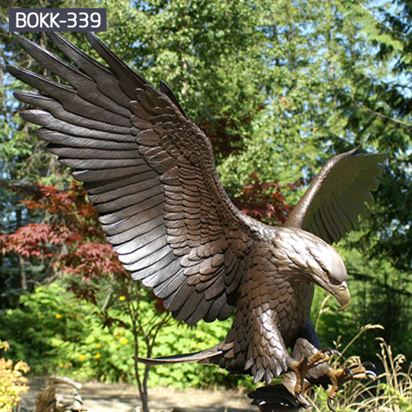 Outdoor garden ornament bronze casting eagle for sale