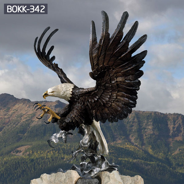 Large antique bronze eagle outdoor metal statues for sale