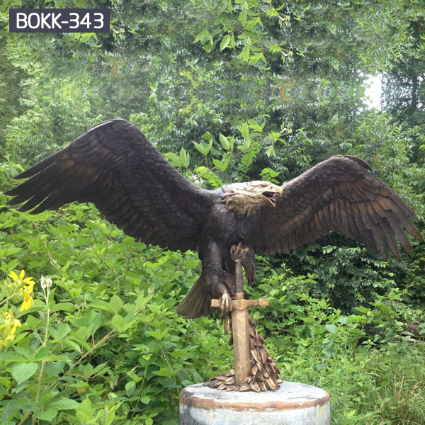 Bronze statue bald large eagle for sale