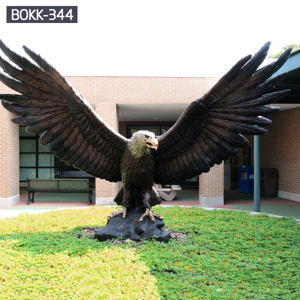 Large metal eagle lawn statues to buy