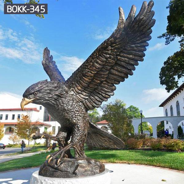 Outdoor metal bald eagle garden sculptures for sale