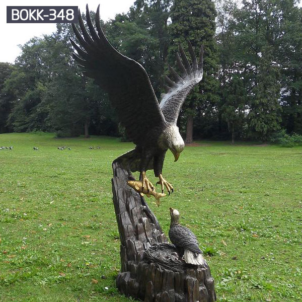 Large bronze lawn statues of american bald eagle statue for sale