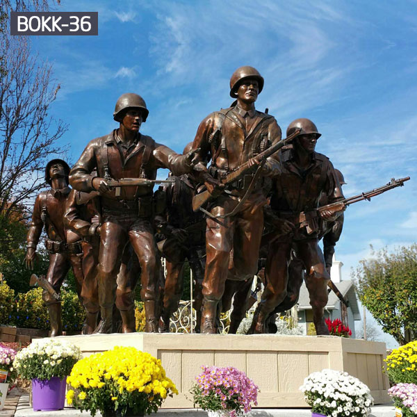 Famous military solders statues bronze casting memorials for sale