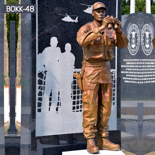 Brass life size military solder garden memorial for sale