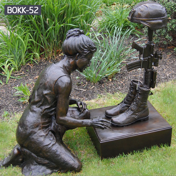 Military bronze casting fallen soldier statue memorials for sale