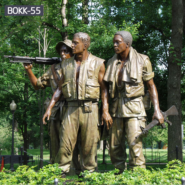 Group military garden bronze life size statues for sale
